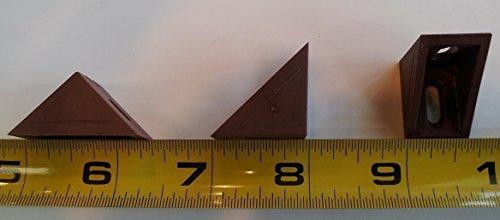 12 Corner Bracket, plastic, brown, 24mm x 24mm x 17mm Brace