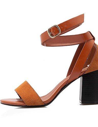 LFNLYX Zapatos de mujer-Tacón Robusto-Tacones / Punta Abierta / Comfort / Innovador / Botas a la Moda / Zapatos y Bolsos a Juego-Sandalias / Black