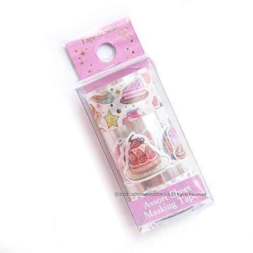 Pine Book Japanese Washi Foil Stamping Stickers & Washi Tape (Cake [ TM00812 ])