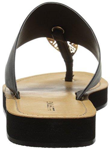Noem Het Lente Dames Astalecien Plat Sandaal Zwart