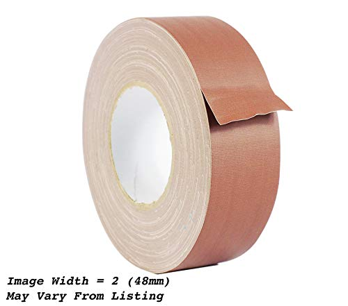 WOD CGT-80 Brown Gaffer Tape Low Gloss Finish Film, Residue Free, Non Reflective Gaffer, Better than Duct Tape (Available in Multiple Sizes & Colors): 2 in. X 60 Yards (Pack of 1)