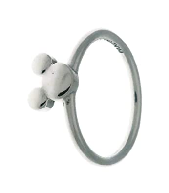 83d342bb9 PANDORA Disney Mickey Silhouette 925 Sterling Silver Ring, Size: EUR-48, US