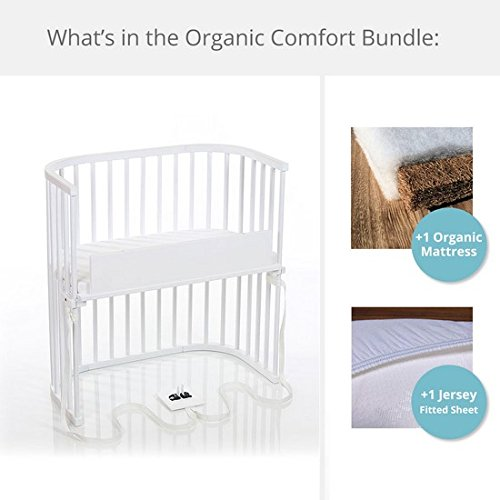 babybay Bedside Sleeper Organic Comfort Bundle in Purist (Pure White) by babybay