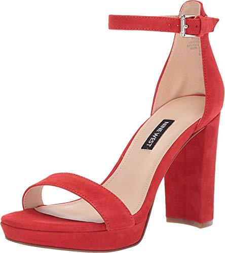 NINE WEST Dempsey Heeled Sandal Medium Red 7.5