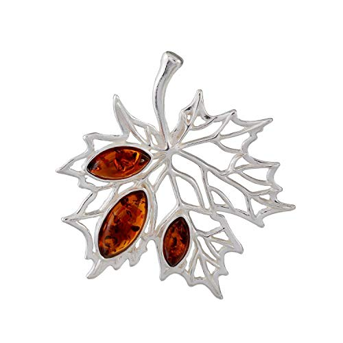 Sterling Silver and Baltic Honey Amber Pendant