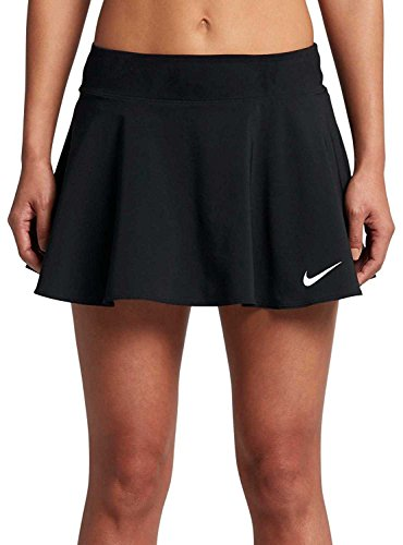 Nike Womens Nike Court Pure Tennis Skirt Black/Black 830616-010 Size Small (Court Womens Skirt)