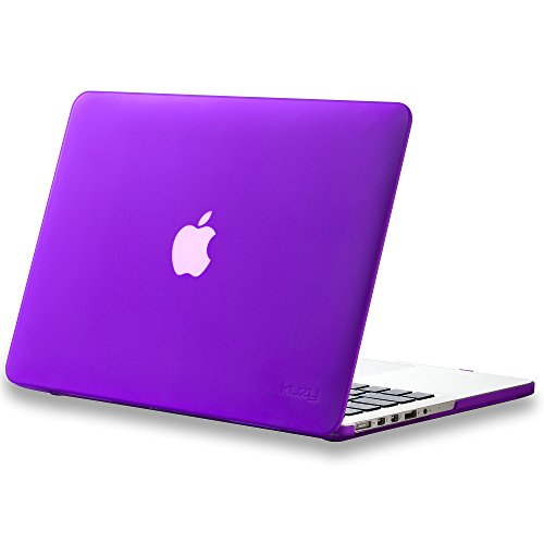 "Kuzy - Rubberized Hard Case for Older MacBook Pro 13.3"" with Retina Display A1502 / A1425 13-inch Plastic Shell Cover - PURPLE"