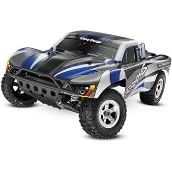 Traxxas 1/10 Slash 2WD RTR with 2.4GHz Radio (No Battery), Blue/Silver