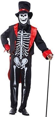 Adulto Hombre Calavera Esqueleto Hombre Disfraz DÍA DE LOS MUERTOS ...