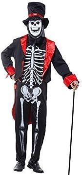 Giorno dei morti Giacca Da Uomo Frac Costume Di Halloween Scheletro Costume