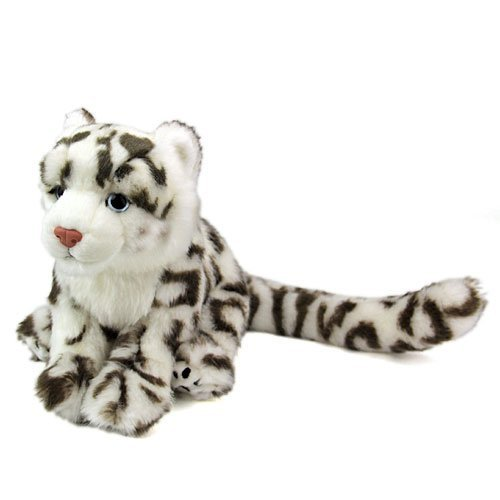 Amazon Com Realistic Stuffed Snow Leopard Child Realistic Animal