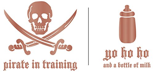 Uptown Baby Metallic Foil Iron-Ons 2/Pkg-Pirate In Training/Yo Ho (Baby Iron Ons)