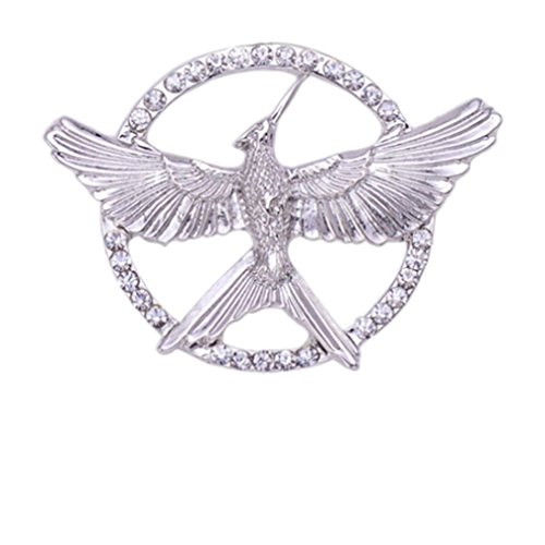 (Winuxury Women's Hunger Games Mockingjay Ornament Katniss Cosplay Parties Costume Filigree Brooch)