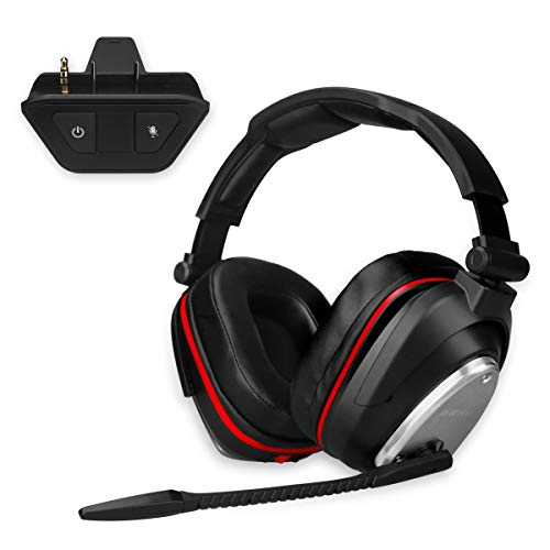2.4G Wireless Gaming Headset for Xbox one with Wireless adpater Deep Bass and Rotating Metal Ear Cups
