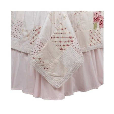 Shabby Bedskirt (Simply Shabby Chic Pink Buffled Bedskirt - Queen Size)
