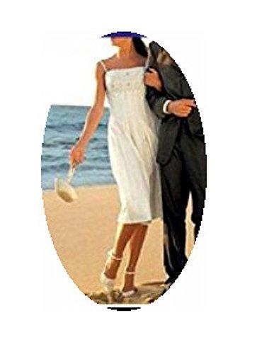 H offwhite von oder 36 Abendkleid in Gr silber Hochzeits wqzR71xYn