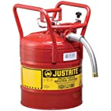 JustRite Type II D.O.T. Approved Fuel Safety Can - 5-Gallon, 1in. Hose, Model# 7350130
