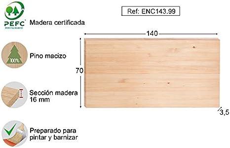 ASTIGARRAGA KIT LINE Tablero Pino 140x70x3,5: Amazon.es: Hogar
