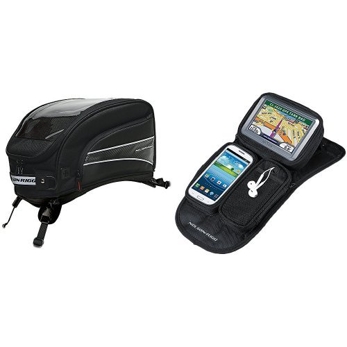 Nelson-Rigg CL-2016-ST Black X-Large Strap Mount Journey Tank Bag and CL-GPS-MG Black Magnetic Mount Journey GPS Mate Bundle