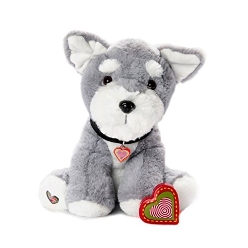 My Baby's Heartbeat Bear Furbaby's: Schnauzer Stuffed Anial with 20 Second Voice Recordable Heart - Schnauzer