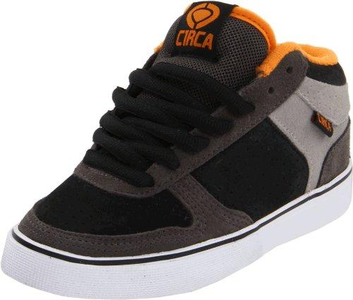 C1RCA 8 Track Skate Shoe (Toddler/Little Kid/Big Kid),Dark Gull/Flame Orange,2 M US Little Kid
