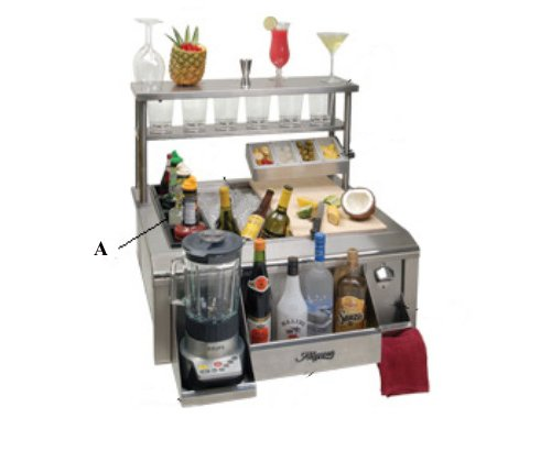 Alfresco BWELL 4 Bottle Wells with Holder Tray Main Sink System Accessory