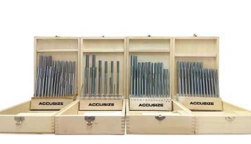Accusize - All in One Combo HSS Chucking Reamer Sets in Fitted Cases ( 29ps/14 ps/26 ps/25ps), #5500 by Accusize Industrial Tools