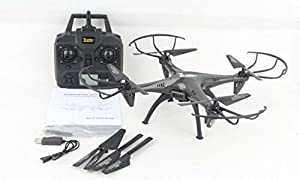 Zuzo Carbon Fiber Drone 2.4GHz 4CH 6-Axis Gyro RC Quadcopter with 2MP HD Camera One Key Return [Headless Mode] & Large LED Lights by ZuZo