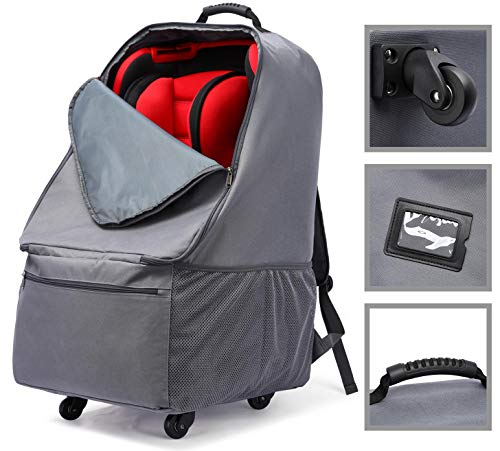Lowest Prices! Car Seat Bag with Wheels, Baby Car Seat Travel Carseat Cover Backpack Bag, Infant Car...
