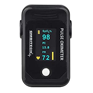 AmbiTech PHX-PO-02 High Accuracy Fingertip Pulse Oximeter with OLED Display (White)
