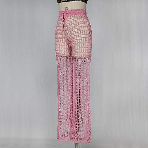 Cavallo Pink Alta Vita Con A Forma Di E Pantalone Gamba Risvolto Larga P1vBnHwqxw