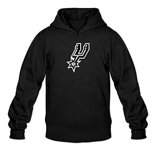 Men's San Antonio Spurs Mascot Logo Sweatshirt Black (Parker Terminator)