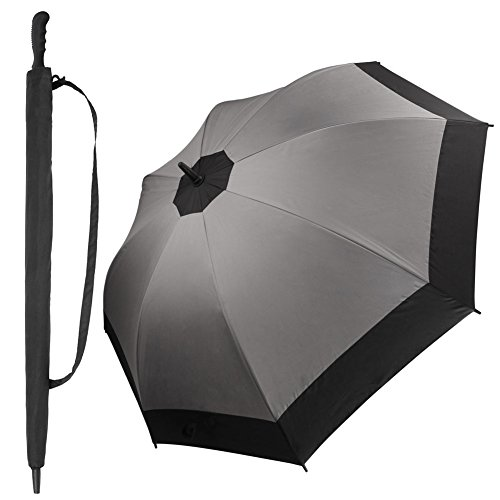 Diglot Golf Umbrella Windproof Diameter 47 Inch Double Canopy Vented Automatic Open Extra Large Oversized Waterproof Sun Protection Ultra Rain & Wind Resistant Umbrellas