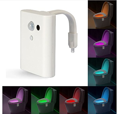 8 Colors Intelligent Closestool Induction Sense LED Night Light Motion Activated Toilet Night Lamp - Led Color Wash System