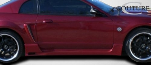 2 Piece Body Kit Brightt Couture ED-XZO-024 Urethane Special Edition Side Skirts Rocker Panels Compatible With Mustang 1999-2004