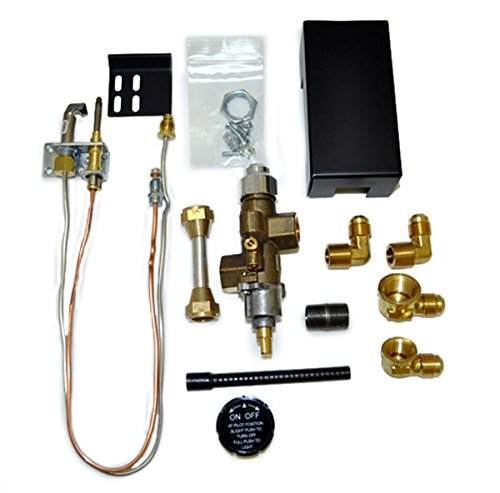 Fireplace Pilot Kit Safety - Copreci 72PKNQM Side Inlet Safety Pilot Kit with 3-inch Swivel Quick Connect, Natural Gas