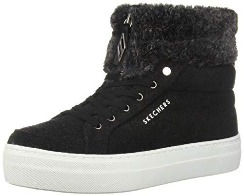 Skechers Womens Alba - Fuzzy Topers Sneaker, Black Deal (Large Image)