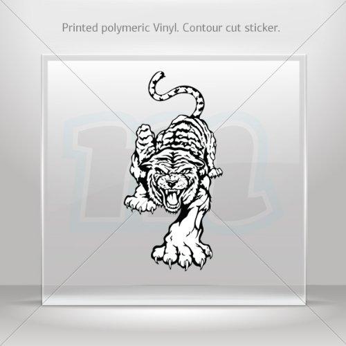 Decals Stickers White Tiger car helmet window Boat jet-ski Garage door 6 X 3 Inches Vinyl color print 0600 W8385
