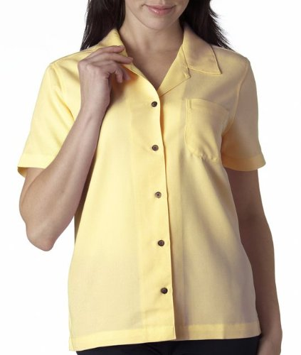 (UltraClub® Ladies' Cabana Breeze Camp Shirt (Banana))
