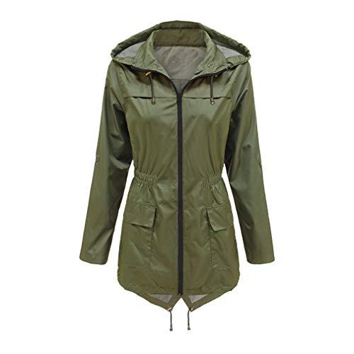 Donna Cappuccio Con Impermeabile Fangcheng Primavera Lungo Coat Inverno Autunno Tuta Antivento Casual Verde Trench 1qaUwgq