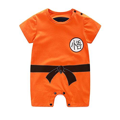 Es Unico Goku Onesie Costume, Romper Bodysuit for Baby Boys (Goku, 13-16 Months)