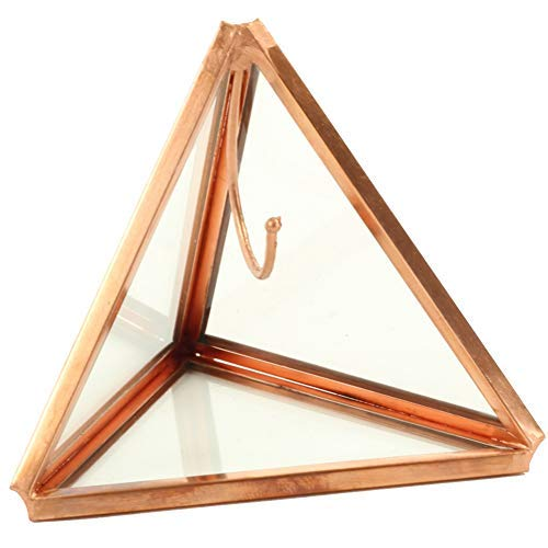 - Koyal Wholesale Geometric Glass Ring Box, Rose Gold Triangular Pyramid Ring Holder, Wedding Ring Bearer Glass Gift Box, Keepsake Wedding Ring Holder, Proposal Box, Jewelry Box, Ring Display Case