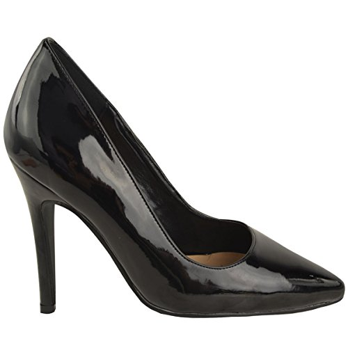 Fashion Shoes black patent Prom Size High Ladies Court Pumps Heel Party Womens Thirsty New Office Stiletto qSBwqp41A