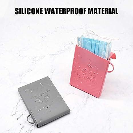 Glomixs Bolsa de almacenamiento de silicona para mascarilla multifunci/ón, resistente al agua y a los golpes, f/ácil de transportar