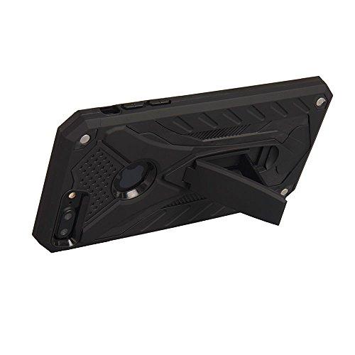 iPhone 8 Plus Hülle, BENKER 2 in 1 TPU + PC Material Anti-kratzer und Stoßdämpfend Standfunktion Rüstung Handyhülle - Schwarz