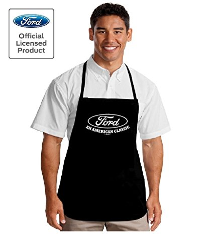 Classic Grilling Apron - Lucky Ride Ford an American Classic Clothing Apron Grilling BBQ Aprons, Black