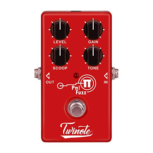 Twinote Guitar Pedal Pπ FUZZ Analog Modern Fuzz Guitar Effect Pedal Processsor Full Metal Shell for Electric Guitar, Exclude Power Adapter