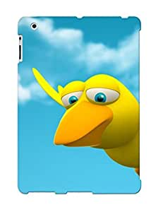 Tpu Fashionable Design Yellow Bird Rugged Case Cover For Ipad 2/3/4 / Appearance
