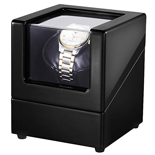 802f5958f LLS Watch Winder for Single Automatic Watches with Quiet Motors Piano Paint  by AC Adapter or