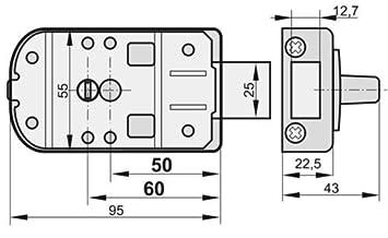 Wei/ß KOTARBAU Zusatzschloss 60 mm 3 Farbe Kastenschloss T/ürzusatzschloss T/ürschloss Schloss Drehknauf Zusatzsicherung Kastenzusatzschloss ohne Zylinder